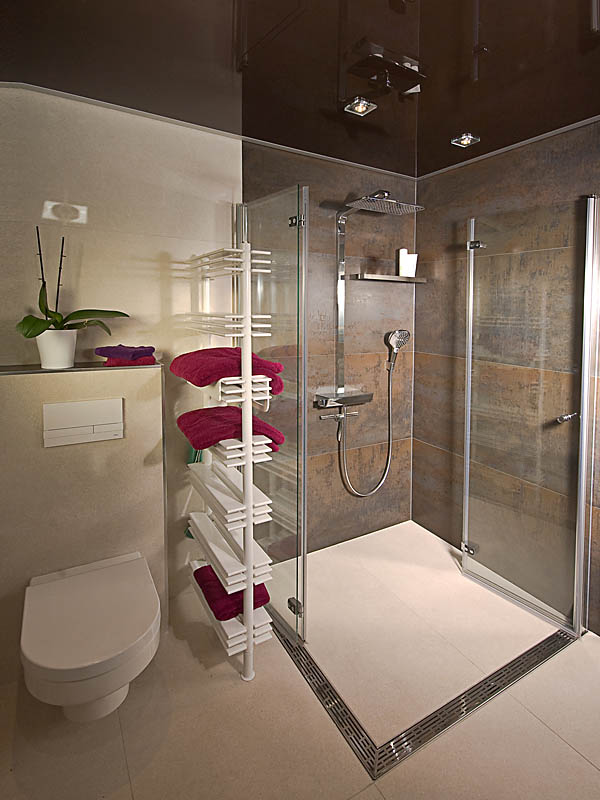 Badgestaltung, Dusche